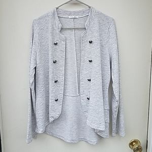 Maurice's size 0 grey and white heathered sweater